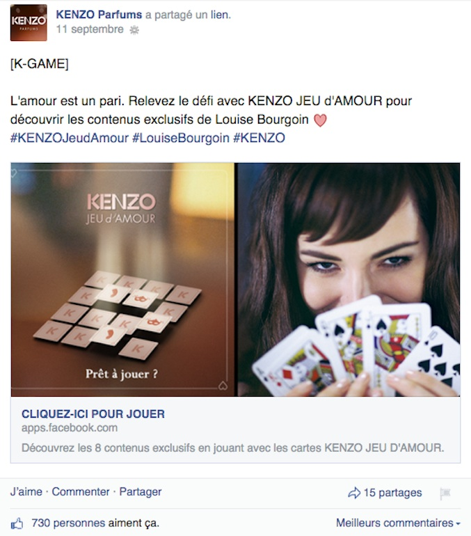 Global Kenzo Parfums Page 2 Fan Facebook Agence Modedemploi srtdxQChBo